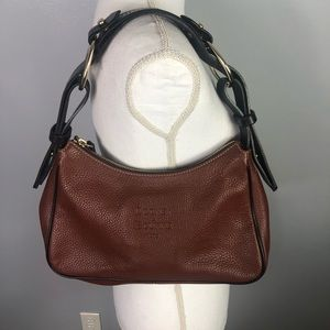 Dooney and Bourke brown pebble leather hobo purse